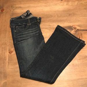 Refuge scarlet flare jeans